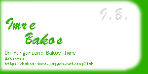 imre bakos business card